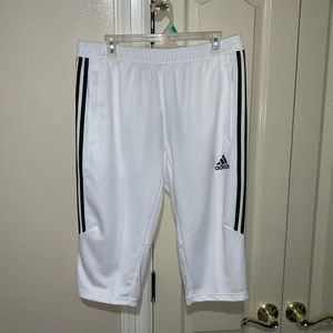Adidas 3/4 Pant Shorts White Black Noir